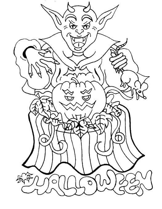 Coloring sheet Halloween Download Caesar, shields, spears.  Print ,coloring,