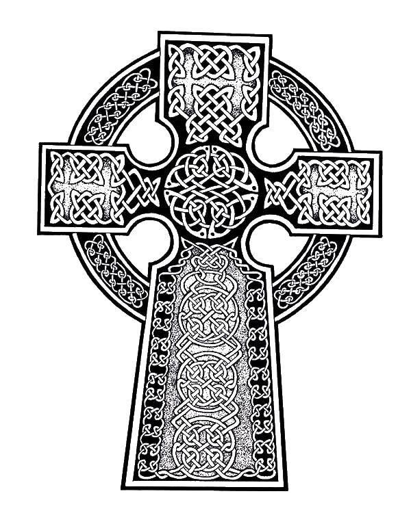Раскраски крест, Раскраска Крест на кругу раскраски крест.