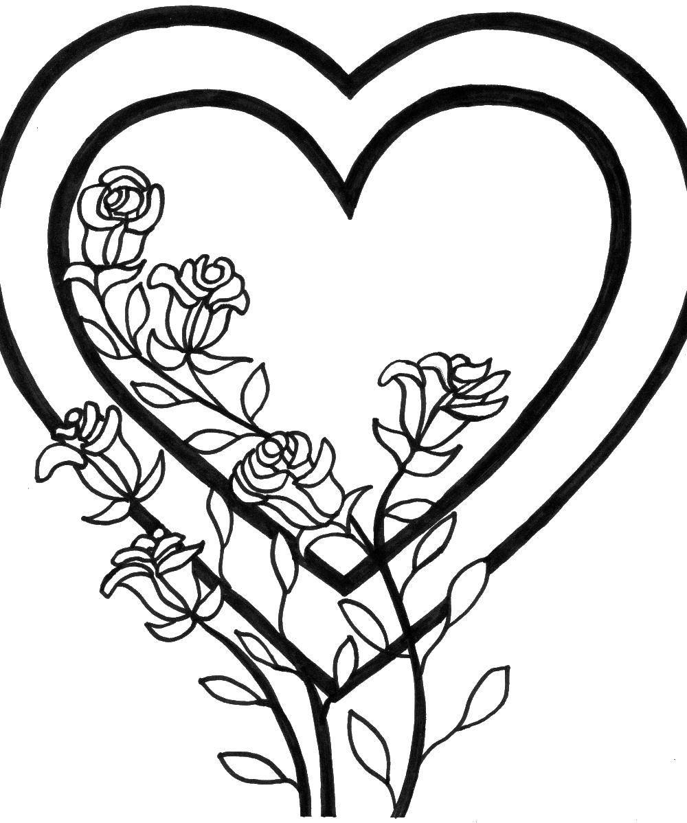 столь легкие рисунки сердечки и цветы если