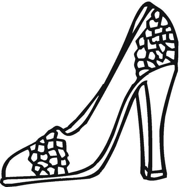 раскраска туфельки распечатать год снималась мыльной