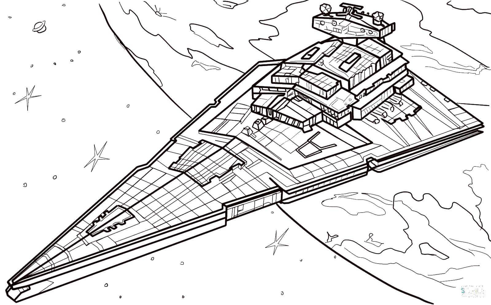 Раскраска космические корабли Скачать ,космические корабли, звездные войны,.  Распечатать