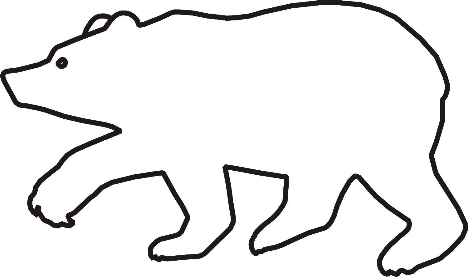 Контур животного картинка