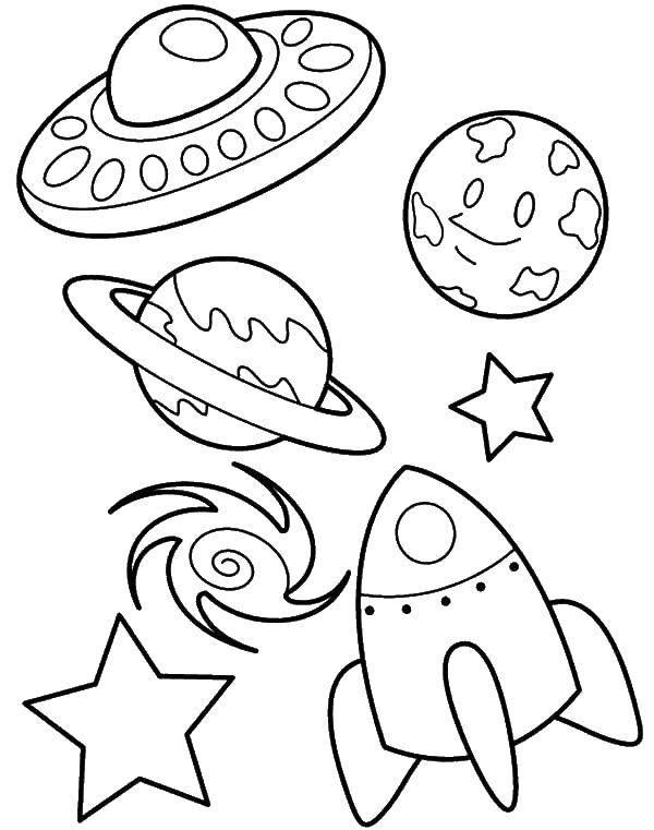 Coloring pages spaceships Скачать .  Распечатать
