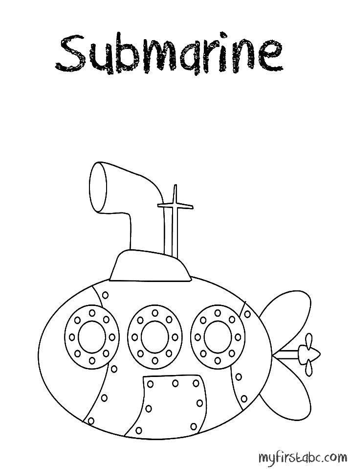 Coloring sheet submarine Download Music, instrument, musician.  Print ,Music,