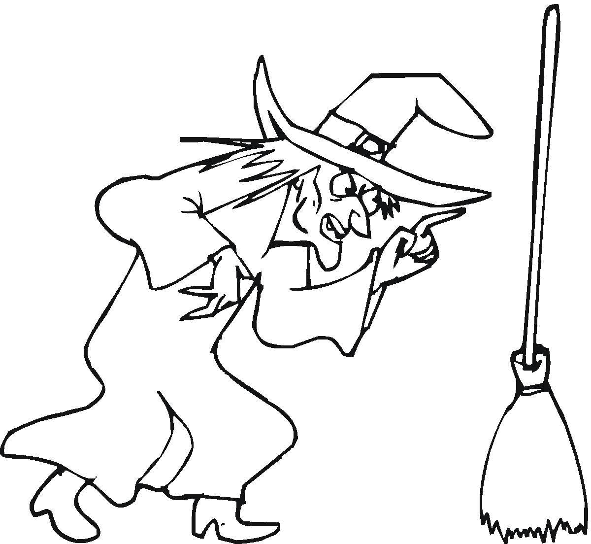 Coloring sheet witch Download dog, pop-corn.  Print ,Pets allowed,