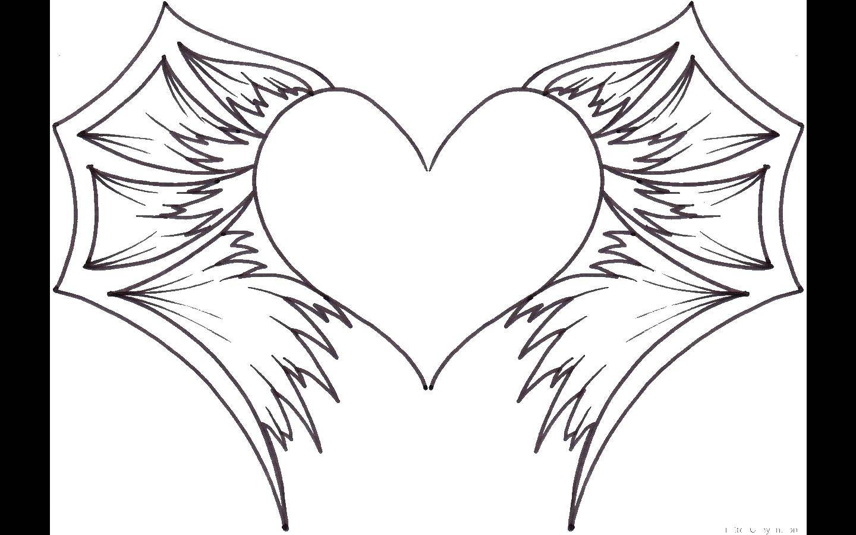 картинки как нарисовать сердце с крыльями красивые скором появлении