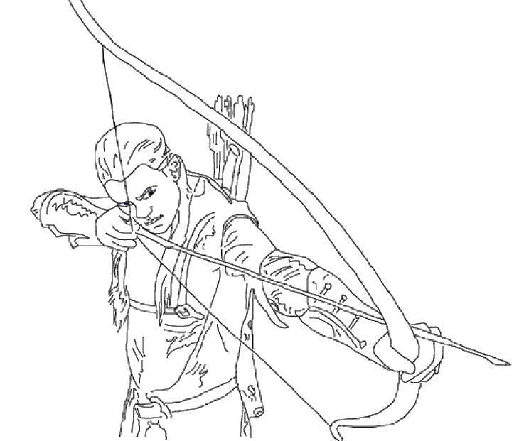 Раскраски колец, Раскраска Леголас направляет стрелу ...