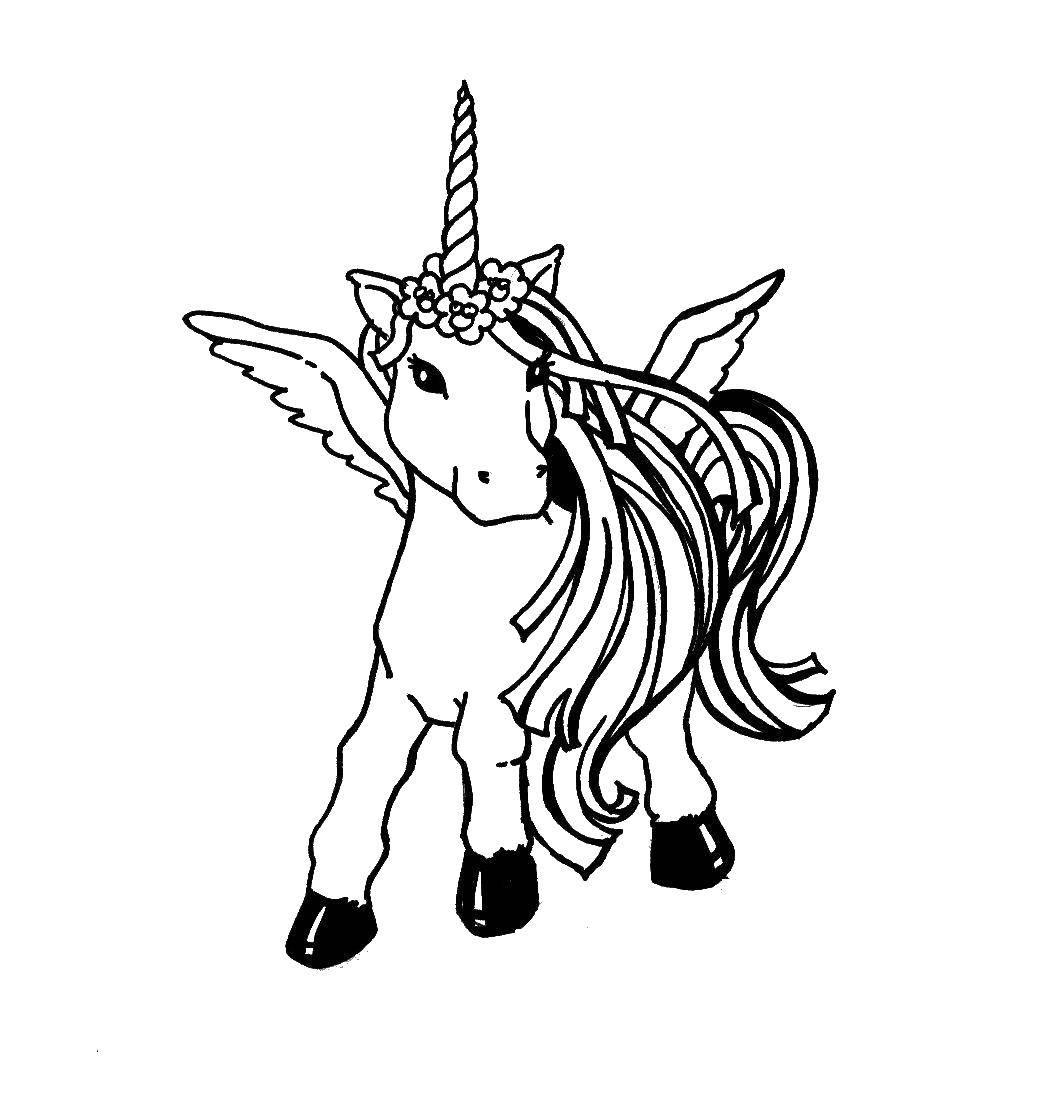 Раскраски создания, Раскраска Единороги Волшебные создания.