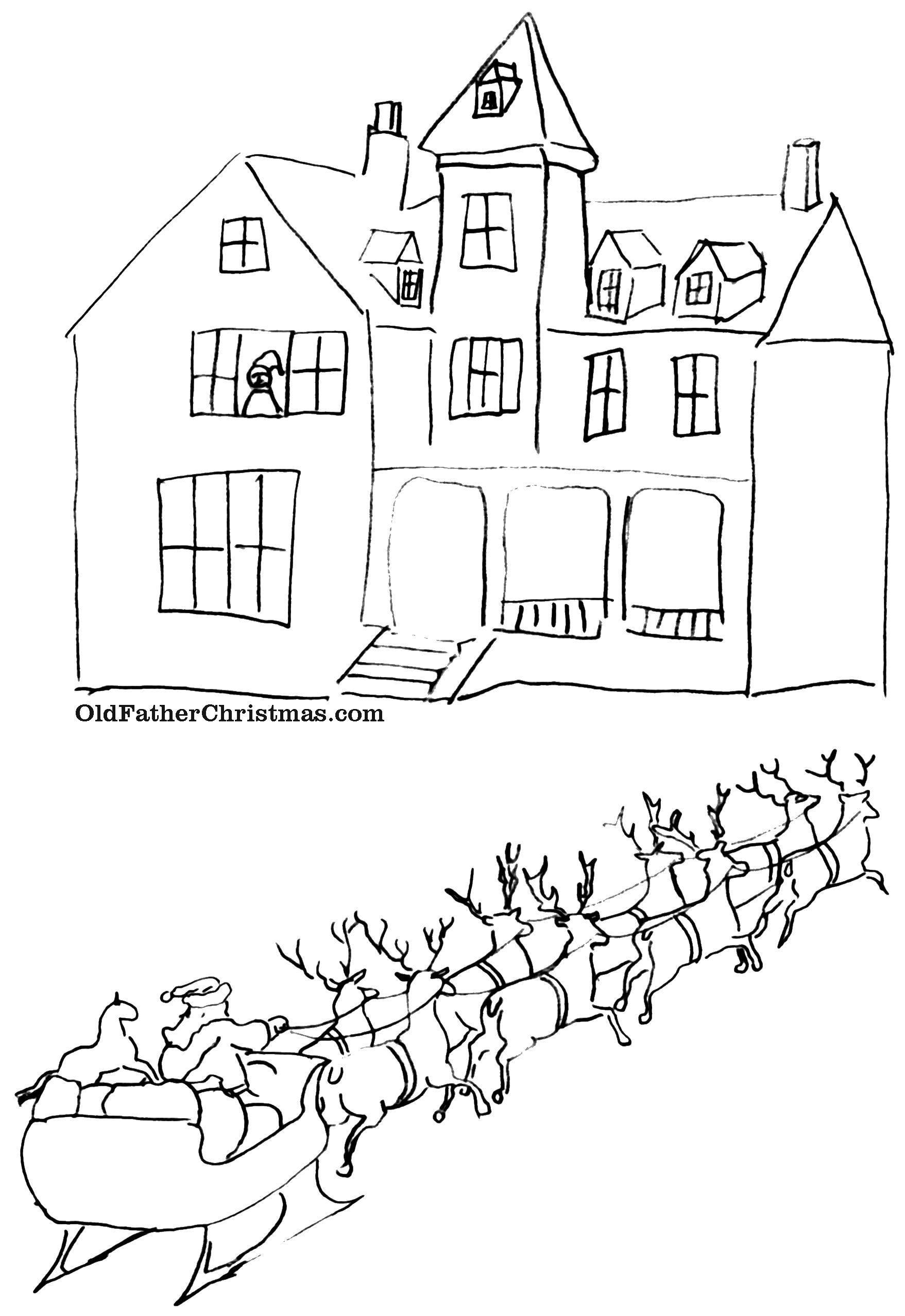 Раскраски ёлка, Раскраска Красивая новогодняя елка рождество.
