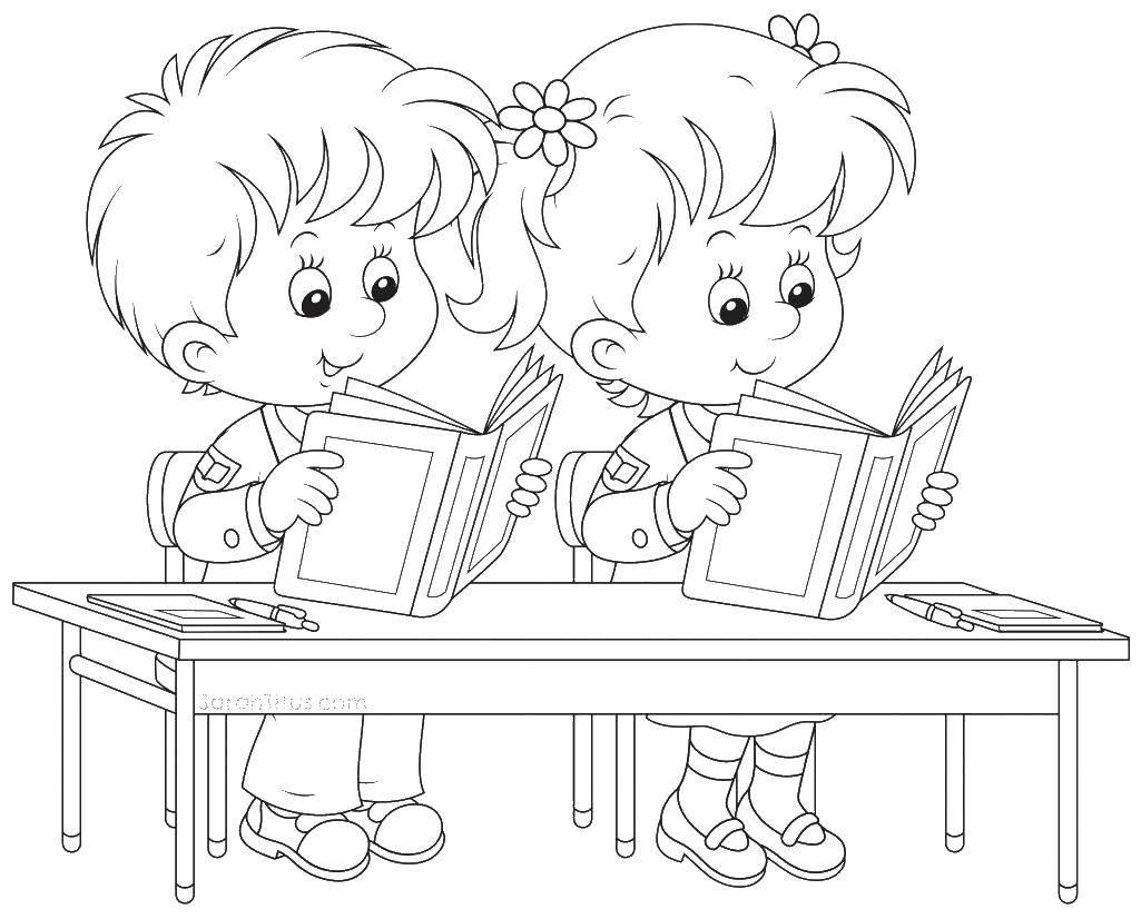 Coloring sheet children Download .  Print