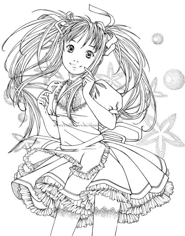 Раскраска аниме красивые и крутые