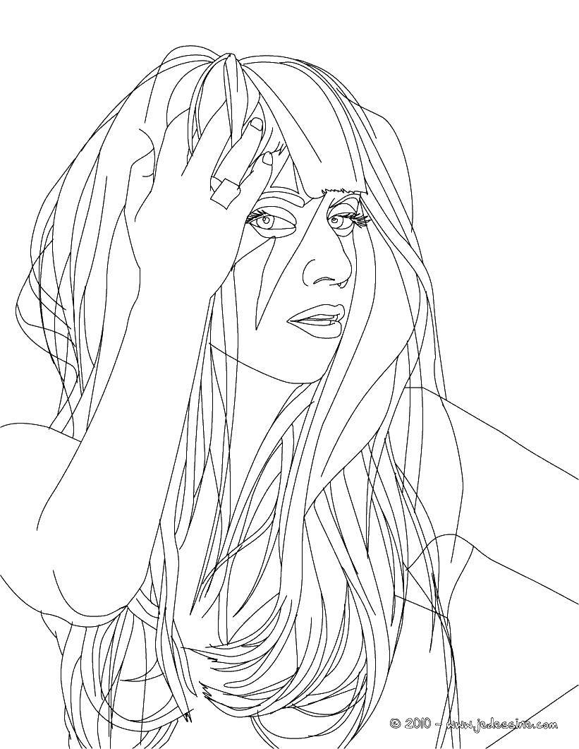 Coloring Lady Gaga. Category coloring. Tags:  Celebrity.