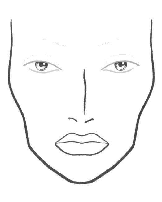 Раскраска раскраски для девочек Скачать ,макияж,.  Распечатать