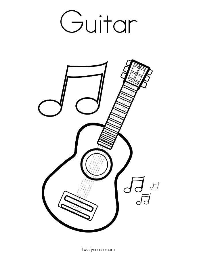 Coloring G means guitar Download Music, instrument, musician, note.  Print ,Musical instrument,