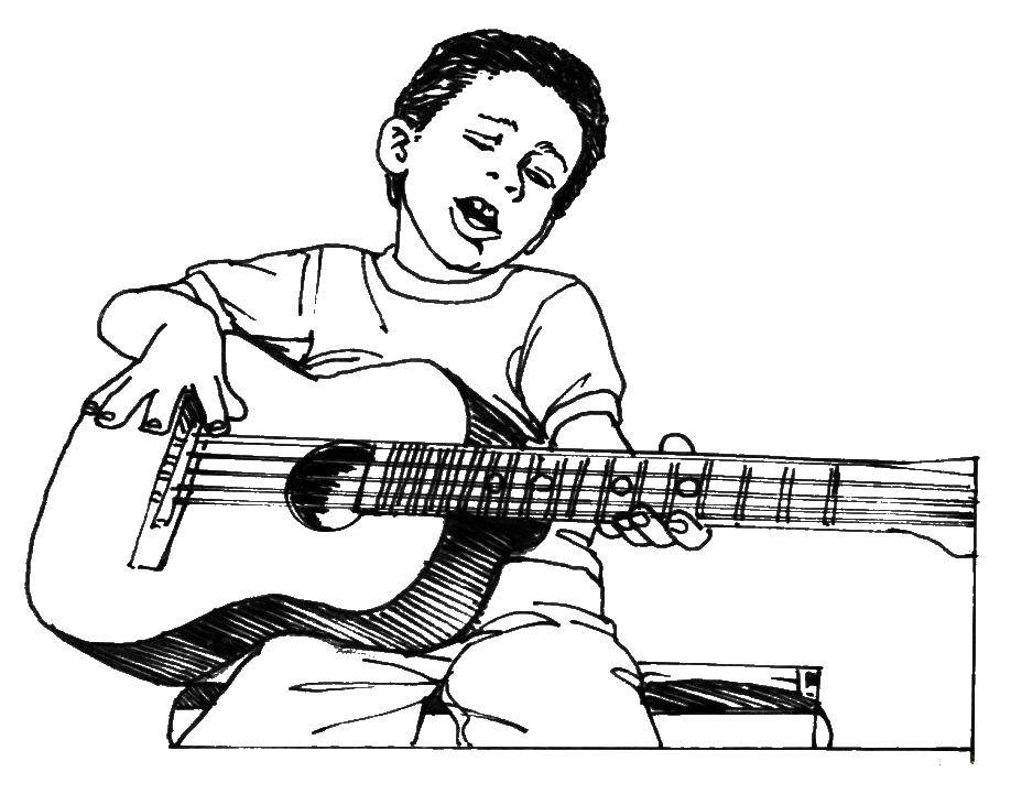 Coloring sheet Musical instrument Download the congratulation 8 March card.  Print