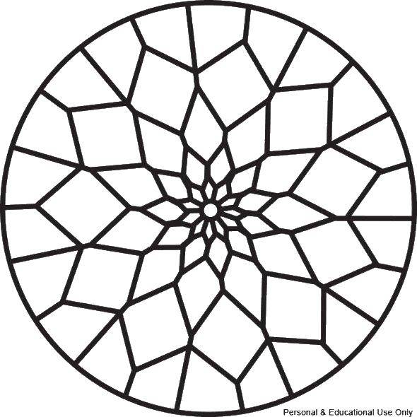 Coloring sheet With geometric shapes Download .  Print