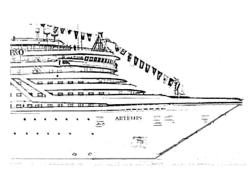 Online Coloring Pages Coloring Page The Nose Of The Ship Titanic Download Print Coloring Page