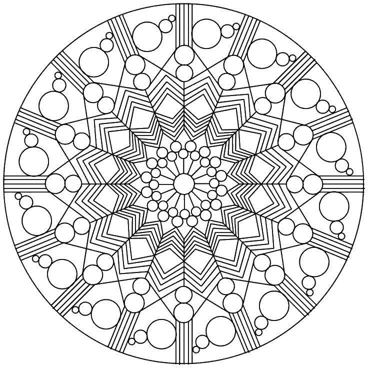Coloring pages With geometric shapes Скачать .  Распечатать