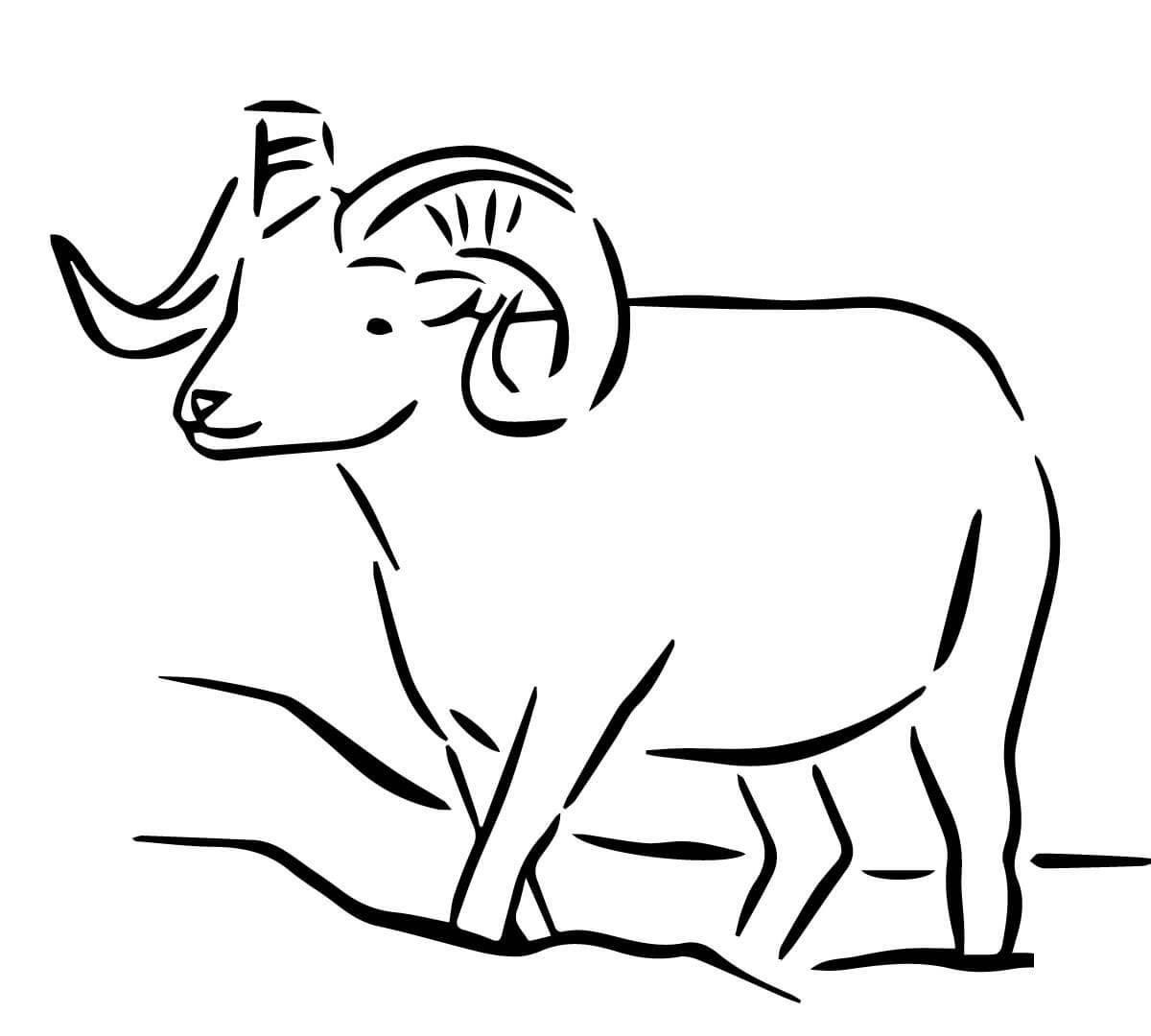 Раскраски луг, Раскраска Корова с теленком на лугу ...
