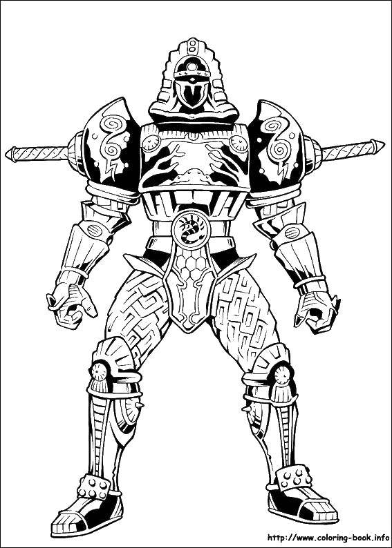 Coloring Iron warrior. Category the Rangers . Tags:  Warrior , knight.