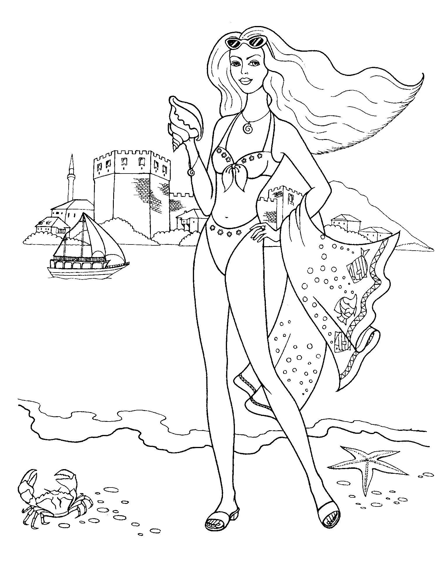 Coloring sheet Beach Download Rome.  Print ,coloring,
