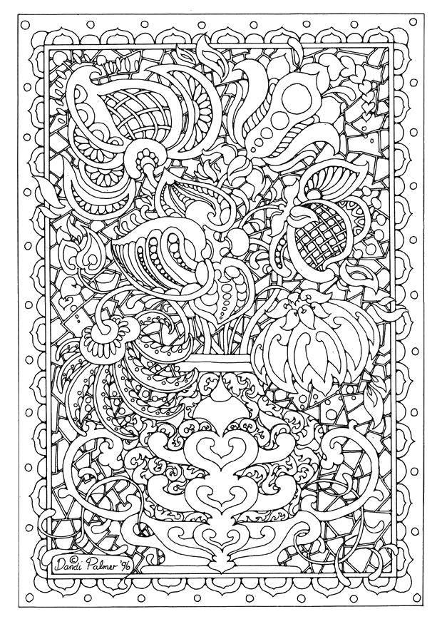 Coloring sheet Sophisticated design Download .  Print