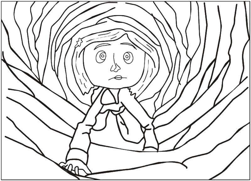 Coloring Coraline Download ,Cartoon character,.  Print