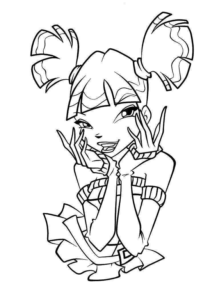 Coloring sheet Winx Download .  Print