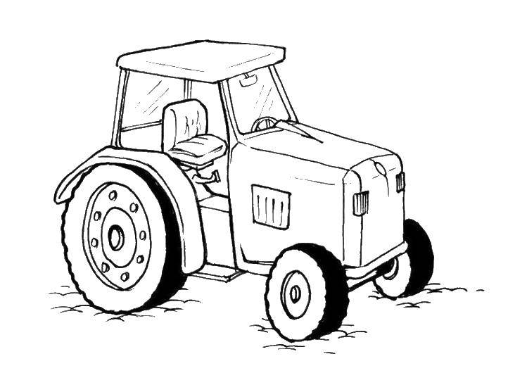 Coloring sheet tractor Download hands, hands, to cut.  Print ,hand,