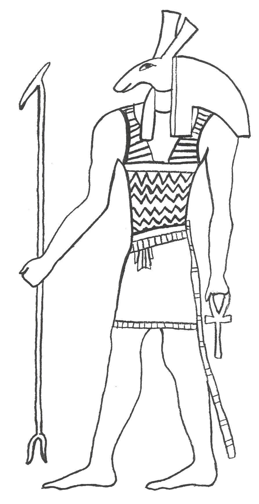 раскраска египетский воин задувка диск
