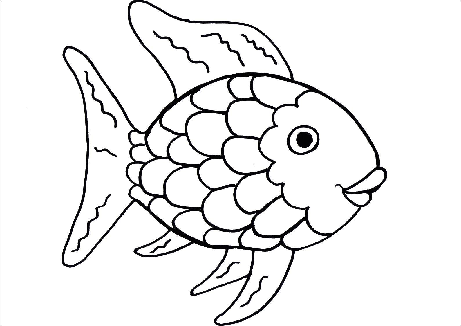 Раскраски рыбки, Раскраска Дельфин рыбки и краб Морские ...