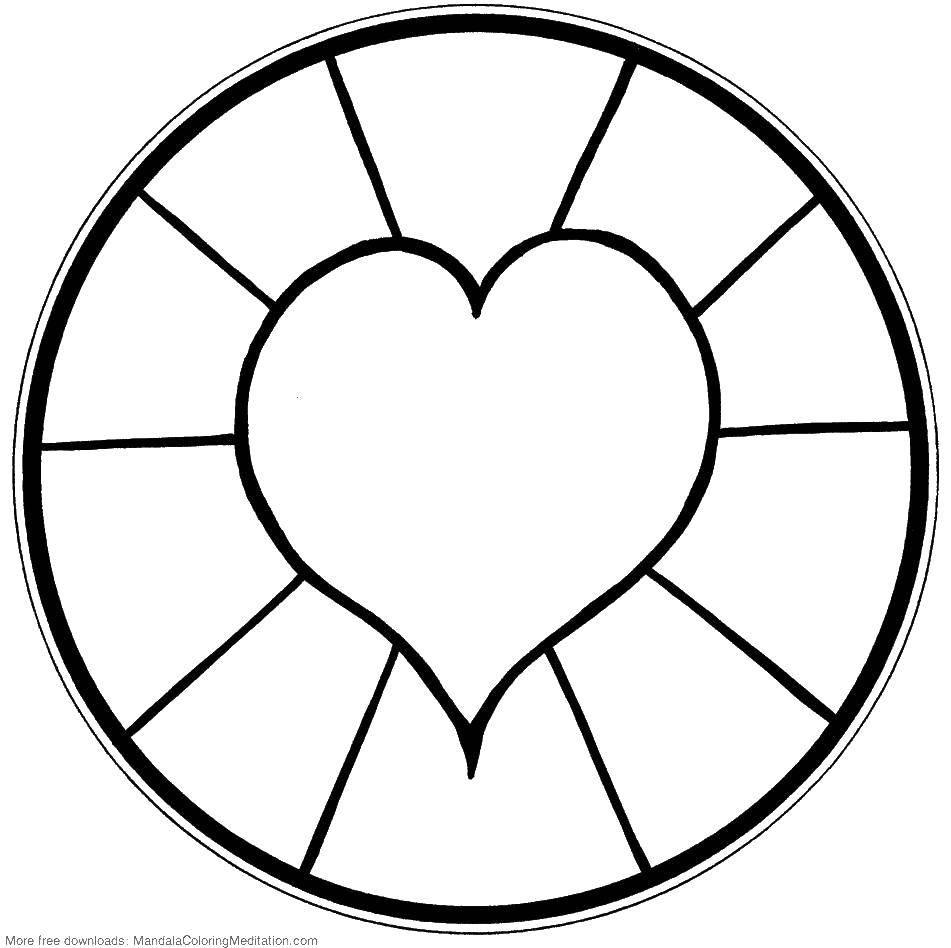 Coloring sheet Hearts Download .  Print