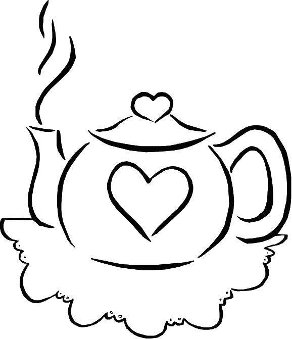 Распечатать картинки чайник