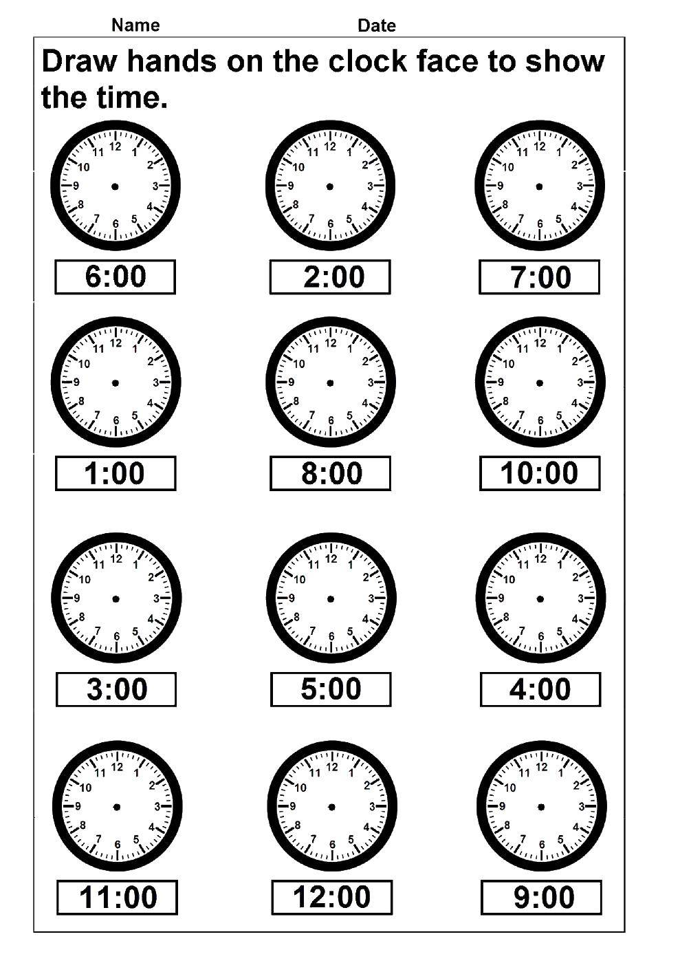 Coloring Time Download teach the time clock,.  Print