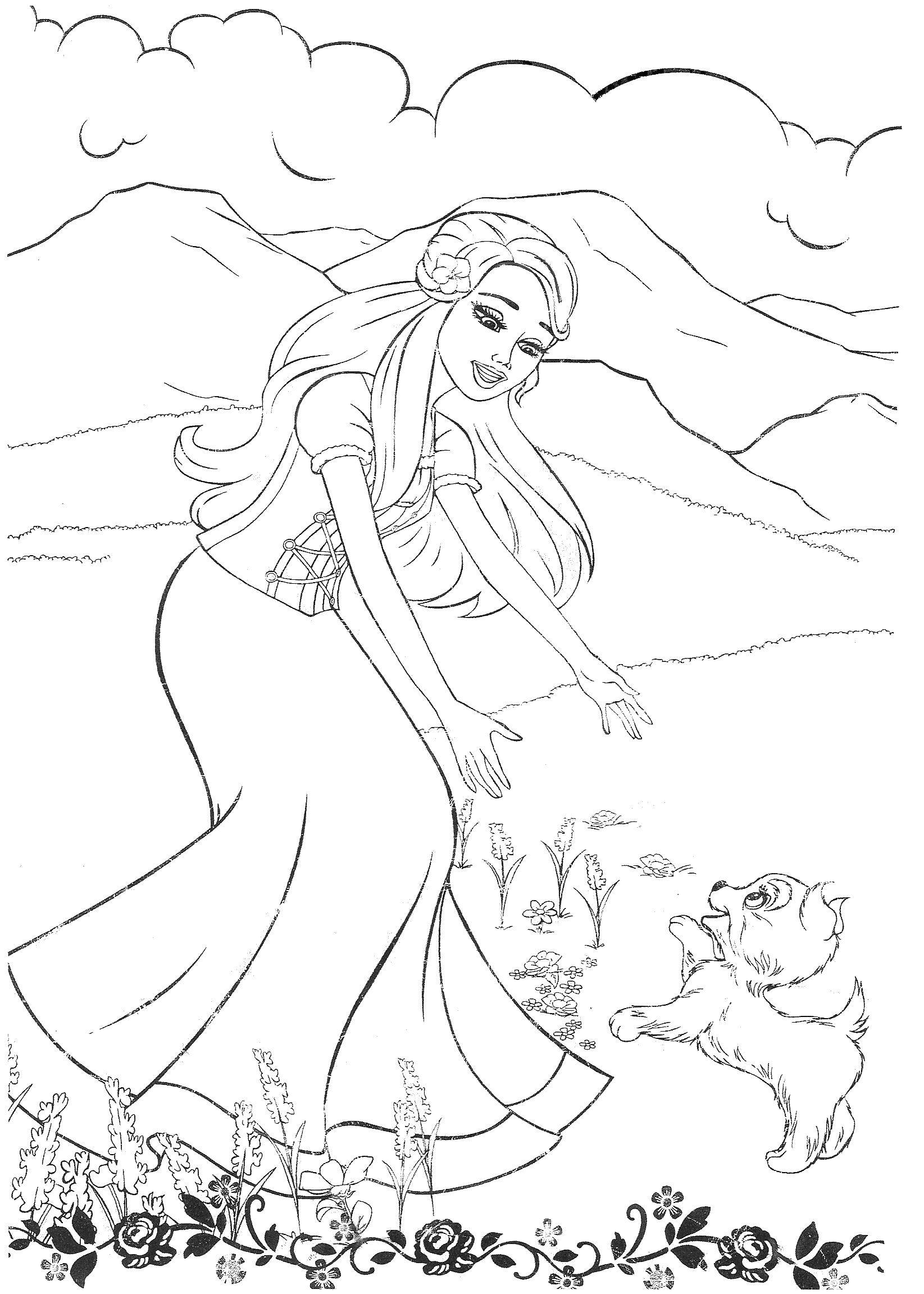 barbie coloring pages for girls online | Coloring Pages | 2303x1645
