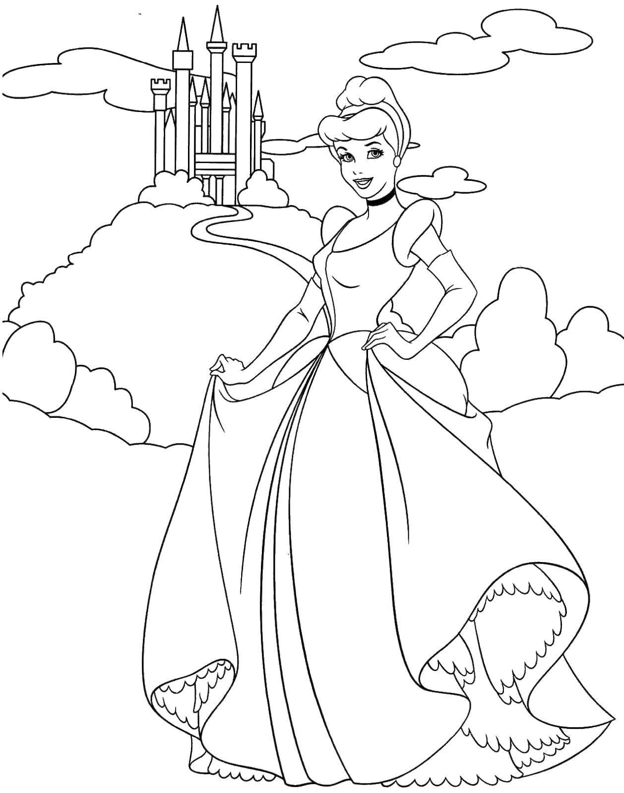 Раскраски принцессы, Раскраска Принцессы диснея Принцессы.