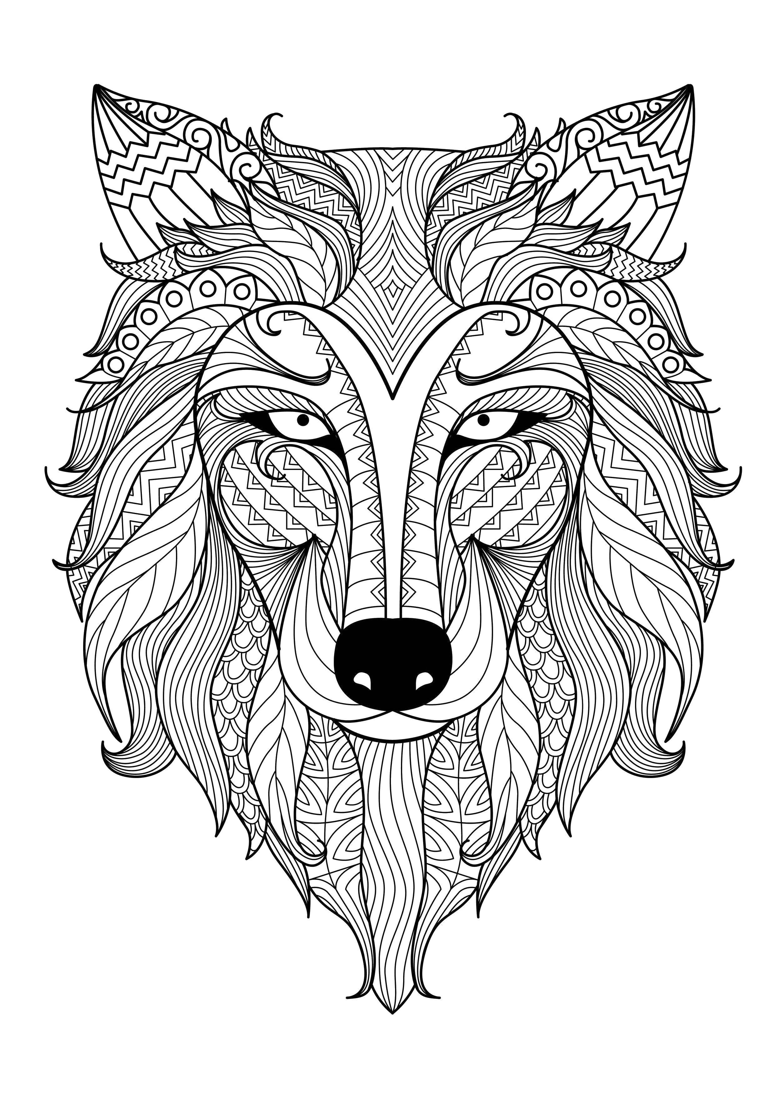 Раскраска Красивое узорное животное Скачать ,Узоры, животные,.  Распечатать