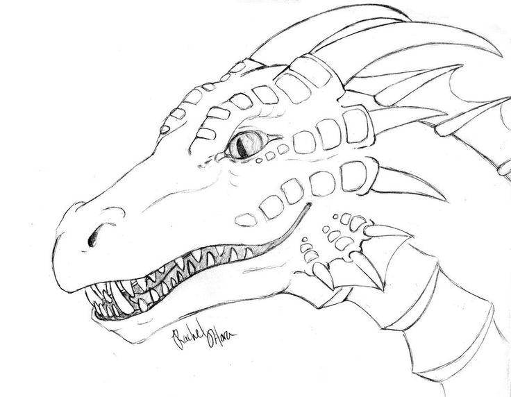 Coloring sheet Dragons Download machine .  Print ,The contours of the machine,