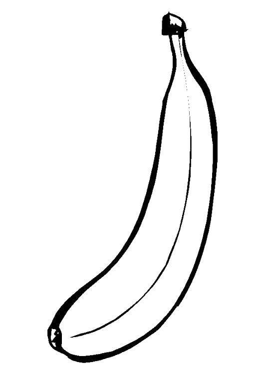 Картинки один банан для раскрашивания