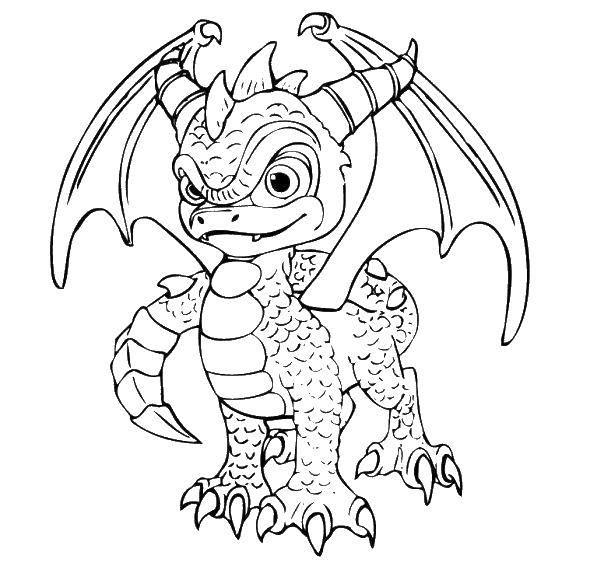 Раскраски драконы, Раскраска Большой и маленький дракон ...