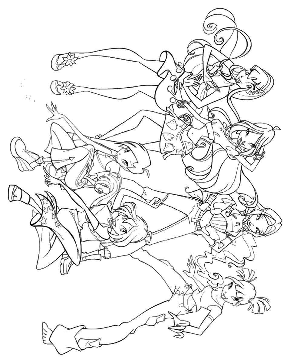 Раскраски наряд, Раскраска Красивый наряд феи винкс Винкс.
