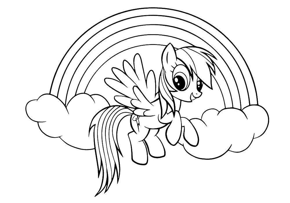 Coloring sheet Pony Download hands, hands, to cut.  Print ,hand,