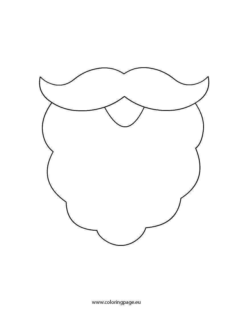 Раскраска дед мороз Скачать ,дед мороз, санта клаус, борода, усы,.  Распечатать