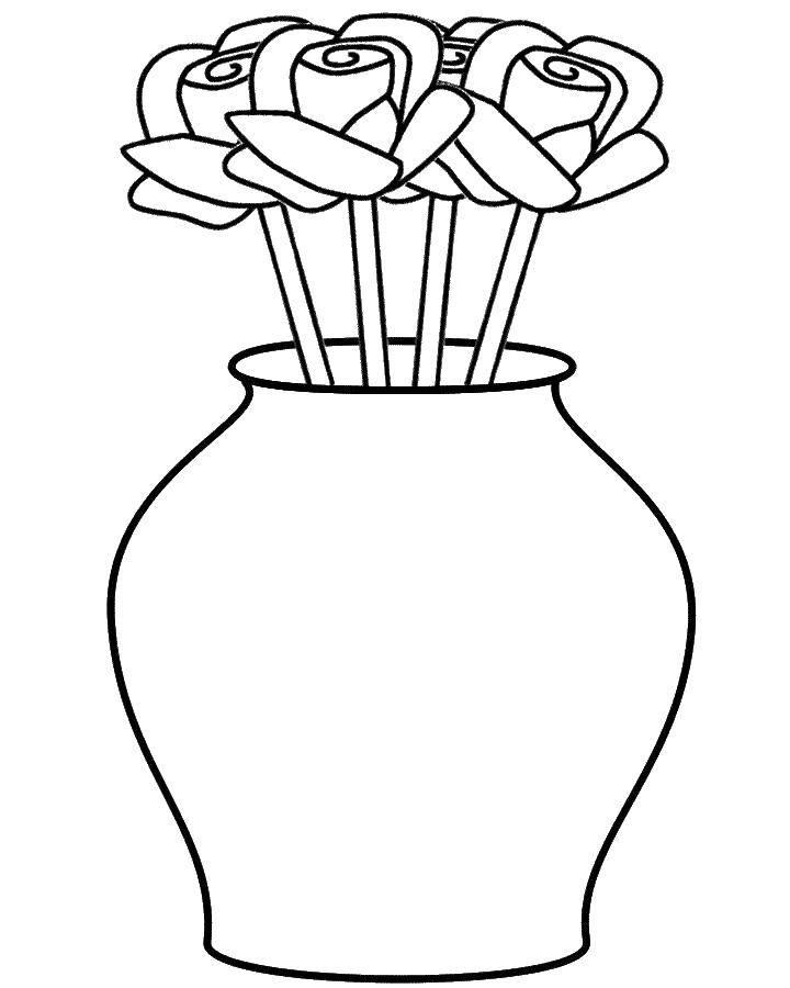 Картинки нарисованных ваз для цветов