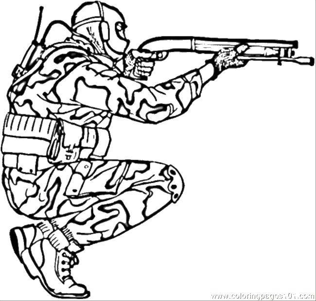 Coloring sheet Soldiers Download .  Print