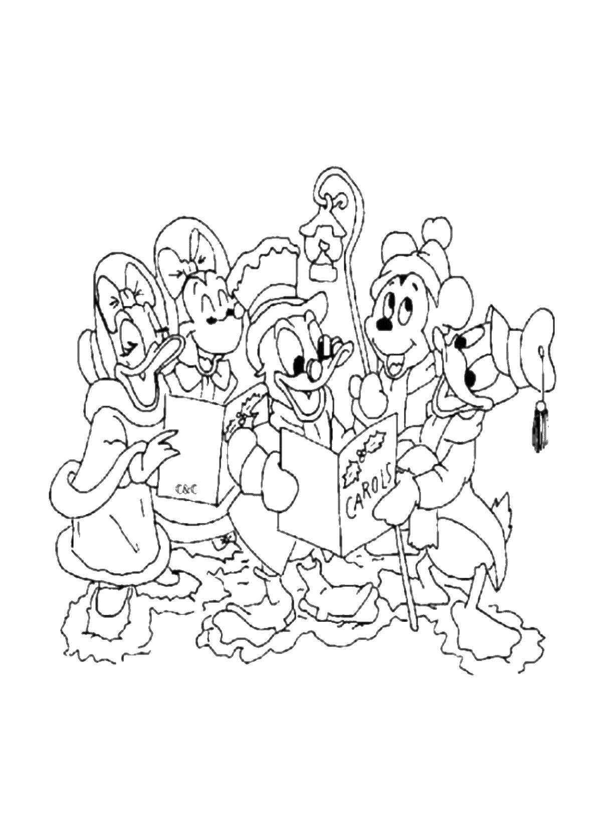 Coloring sheet Christmas Download Cartoon character.  Print ,coloring,