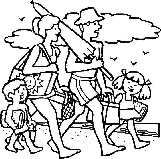 Раскраски семьи, Раскраска Семейное дерево на английском ...
