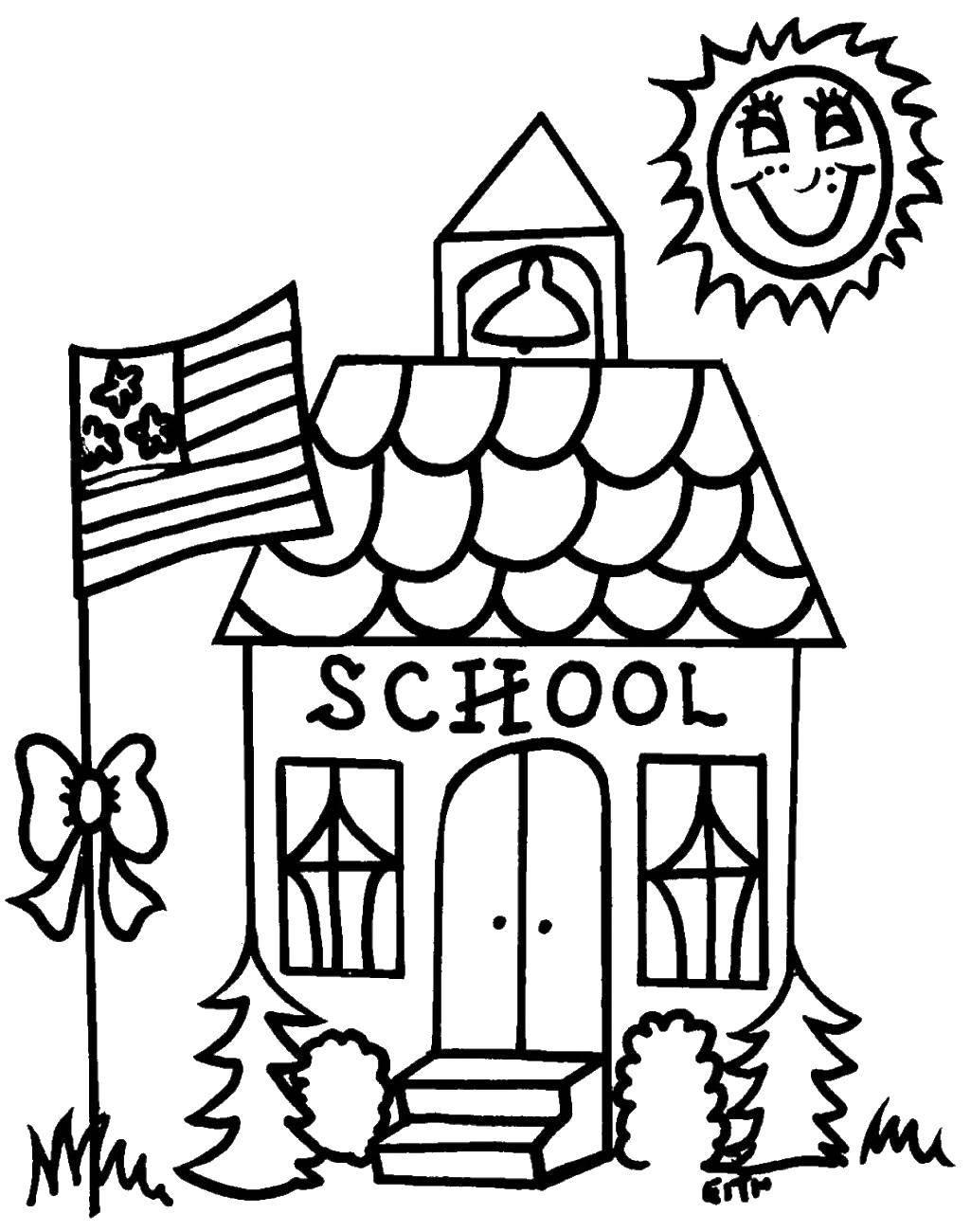 Coloring sheet school supplies Download .  Print