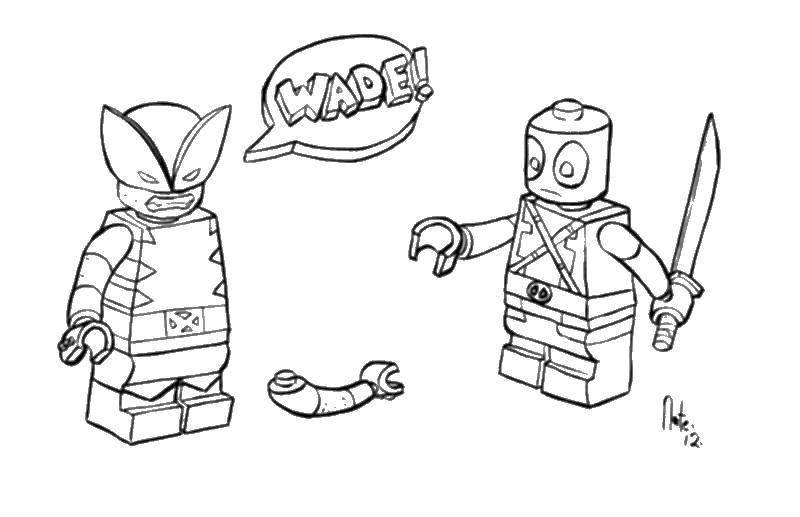 Coloring pages LEGO Скачать .  Распечатать