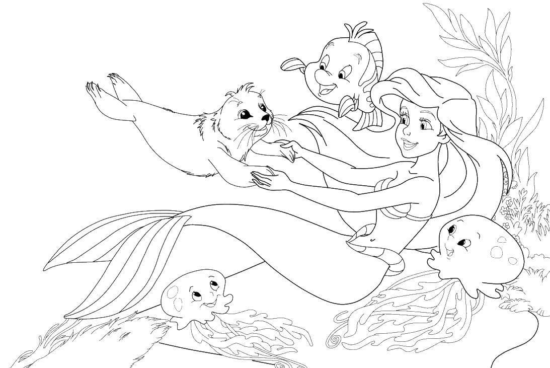 Coloring sheet fish Download English.  Print ,English,